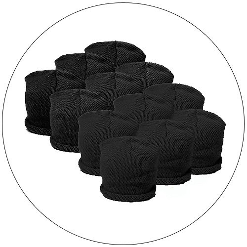 1 Dozen Classic Knit Caps - Color: Black - Junior / Youth for Perfect Fit.