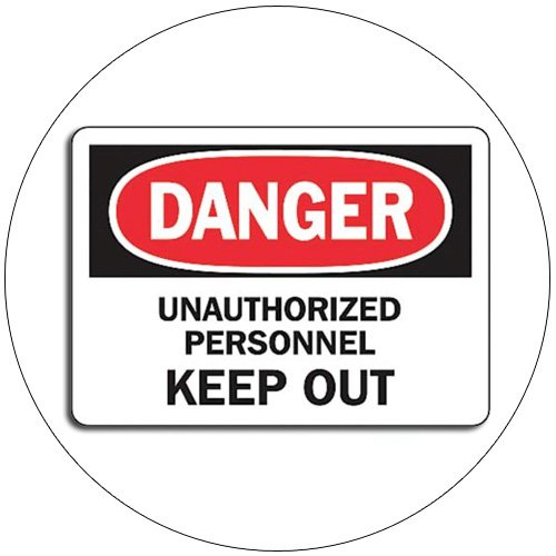 """Danger Unauthorized Personnel Keep Out Self-Adhesive Label Sign - 7""""H x 10""""W - Grainger No. 8ZE02"""