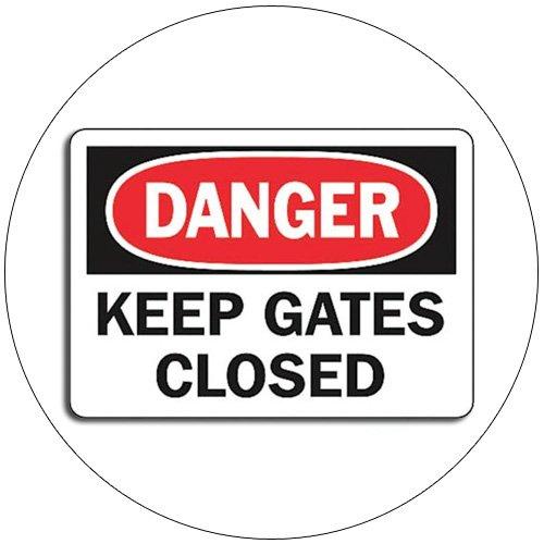 "Danger - Keep Gates Closed Self-Adhesive Label Sign - 7""H x 10""W - Grainger No. 9JC48"