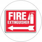 "Fire Extinguisher Self-Adhesive Label Sign - 7""H x 10""W - EMEDCO No. 43396GGHTEDVAD"
