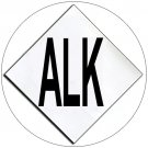 """Chemical Hazard Panel Characters Self-Adhesive Label - ALK - 5 1/2""""H x 5 1/2""""W - EMEDCO No. DCI4-A"""