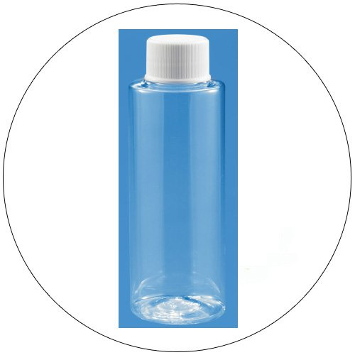 4 oz. PET Round Clear Plastic Bottles w/ Caps (New In stock).
