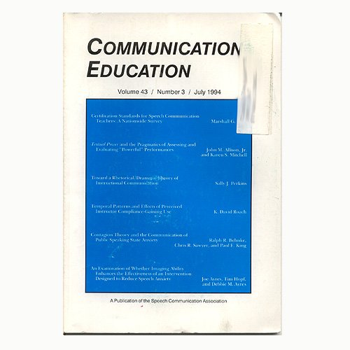 Communication Education Vol. 43 No. 3 July 1994 (Used - Very Good Condition).