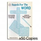 "Bulk Lot 50 Qty ""Search For The Word"" Books. Save: $122.00"