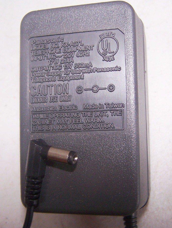 Panasonic Power Supply AC Adapter - Model: KX-A07L - (Refurbished)