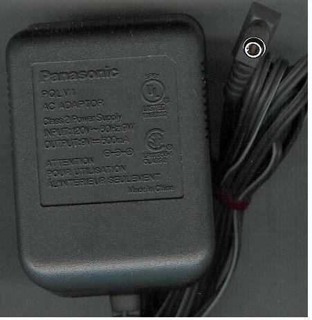 Panasonic Cordless Phone AC Power Supply Adapter No. PQLV1 (Refurbished)