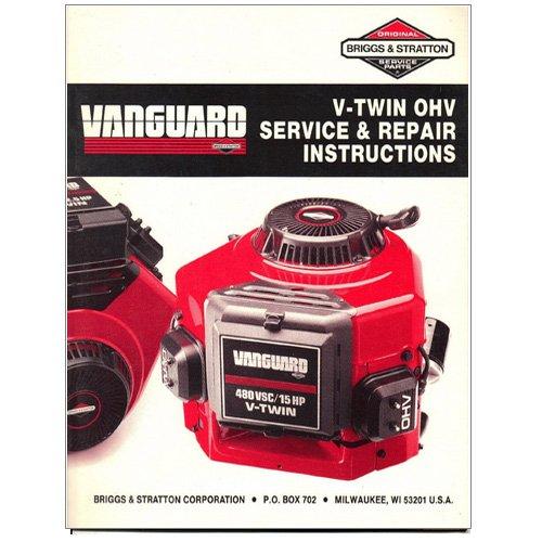 Original Briggs and Stratton Vangurad V-Twin OHV Service & Repair Instructions - 272144-9/88