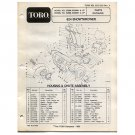 Original Toro 624 Snowthrower Parts Catalog - 3313-589 Rev. A (1988)