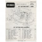 "Original Toro 38"" Cutting Unit - HMR - Model No. 55650-9000001 & Up - Parts Catalog - 3313-899"