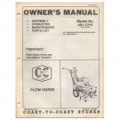Original 1978 Coast To Coast Stores Owner's Manual 5-hp Briggs & Stratton Engine Model 481-1014