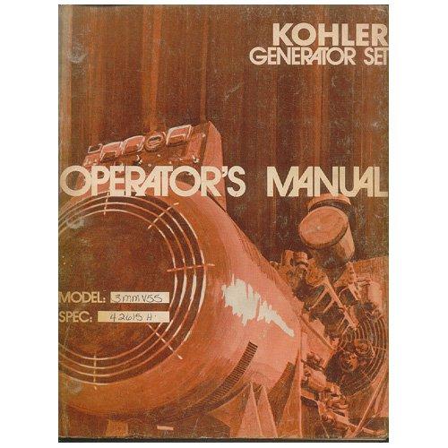 Original 1982 Kohler Generator Set Operator�s Manual Model 3MMV35 & 3MMV55 Form No. TP-1067/10-81