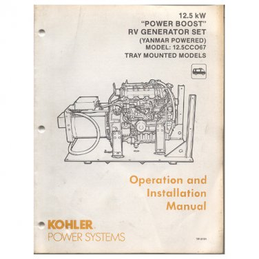 Original 1991 Kohler Operation Manual 12 5 kW Power Boost RV