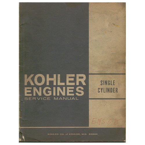 Original 1973 Kohler Engines Single Cylinder Service Manual - Manual No. ENS-575 Rev. No. 5-73