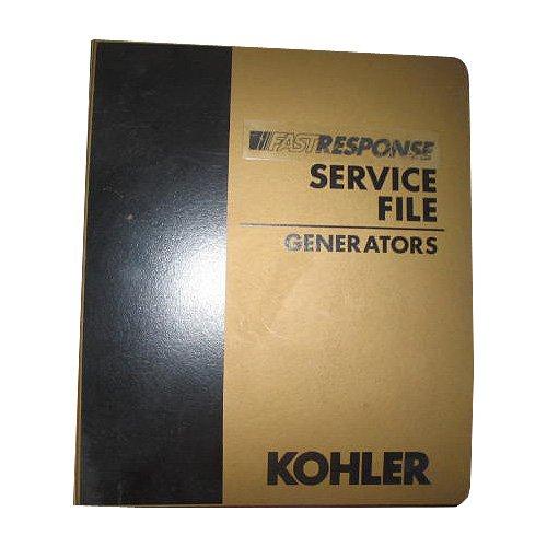 Original Kohler Master FastResponse Service File Binder 1 - Generators, Circa '70's