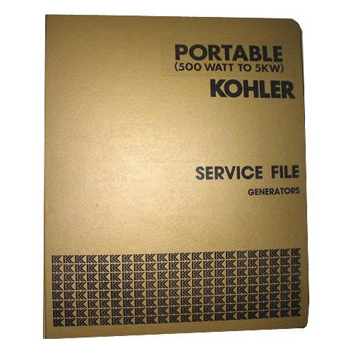 Original Kohler Master Service File Generators Portable 500 Watt To 5KW Binder 1, Circa '70's