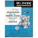 Original Wisconsin Engines Promotional Brochure 12 1/2 HP AGND No. S-260 (Vintage Collectible)