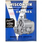Original Wisconsin Engines Promotional Brochure VG4D V Engines No. S-206 (Vintage Collectible)