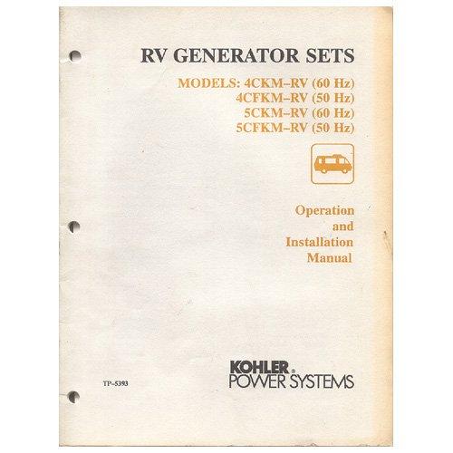 Original 1991 Kohler RV Generator Sets Operation & Installation Manual No. TP-5353 2/91