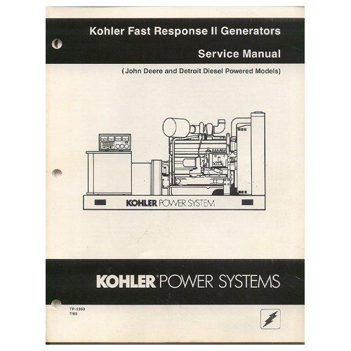 19 hp kohler Engine Owners manual Applications