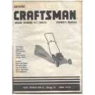 Original 1989 Sears Craftsman Owner's Manual Lawn Mower Model 917.380451 No. 751261 Rev. 11/20/89