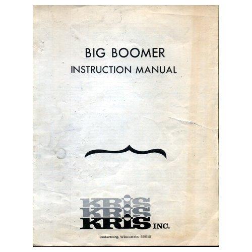 Original 1980's Kris Inc. Big Boomer Amplifier Instruction Manual & Schematic (Circa 1980�s)