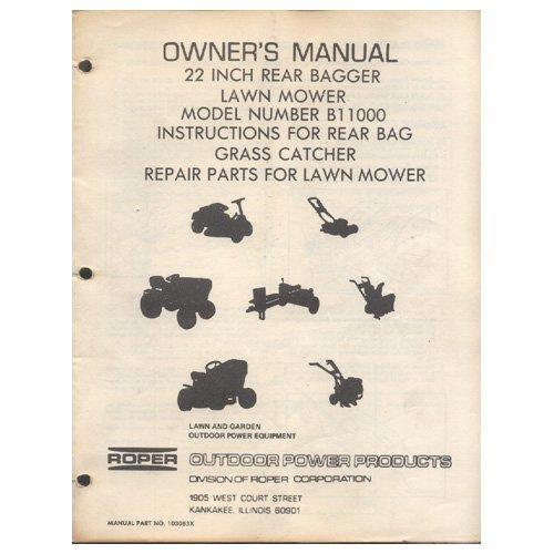 Repair Manual Roper Tiller Rt150gr