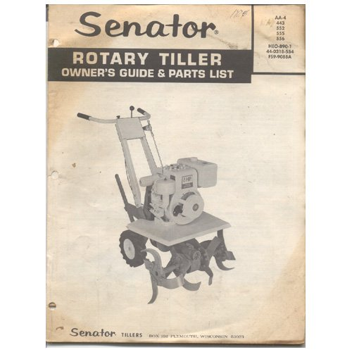 Rotary Tiller Parts Pyramid : Original senator rotary tiller owner s guide parts