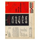 Original 1969 Cave Auto Parts Borg Warner Tune-Up Specifications Guide - Form No. 69-D