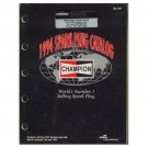 Original 1994 Champion Spark Plug Application Catalog - Diamond Engine Sales Form No. 500