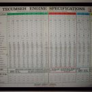 Original 1975 Tecumseh Engine Promotional Service Chart Form No. 693693 12/75 (Vintage Collectible)