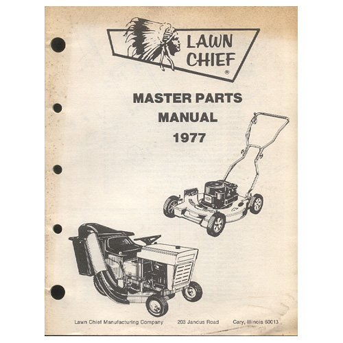Original 1977 Lawn Chief Master Parts Manual Rotary & Riding Mowers (Vintage Collectible)