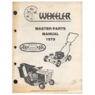 "Original 1978 Wheeler Parts Manual 19""- 25"" Mowers & Tillers (Vintage Collectible)"