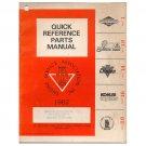 Original 1982 ESA Quick Reference Parts Manual No. ESA 162  (Vintage Collectible)