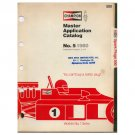 Original 1980 Champion Spark Plugs 500 Master Application Catalog No. 5 (Vintage Collectible)