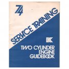 Original 1973 Kohler Service Training Two Cylinder Engine Guidebook No. ENS-979 (Collectible)