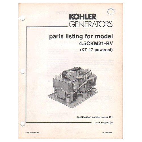 Manual for kohler 5ckm21