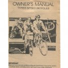 Original 1984 Owners Manual Three-Speed Bicycles Form No. 1C2446 3/84 (Vintage Collectible)