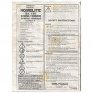 Original 1993 Owners Manual Homelite SX-135 Trimmer UT20601-A Form 18934-A (Vintage Collectible)