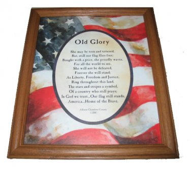 Old Glory Themed Framed Wall Art Home Interiors And Gifts