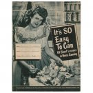"Original 1949 Kerr Corp ""It's So Easy To Can 10 Short Lessons in Home Canning"" (Collectible)"