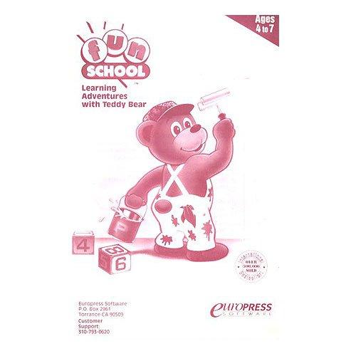 Original 1993 Europress Software Fun School Learning Adventures with Teddy Bear Manual (Vintage)