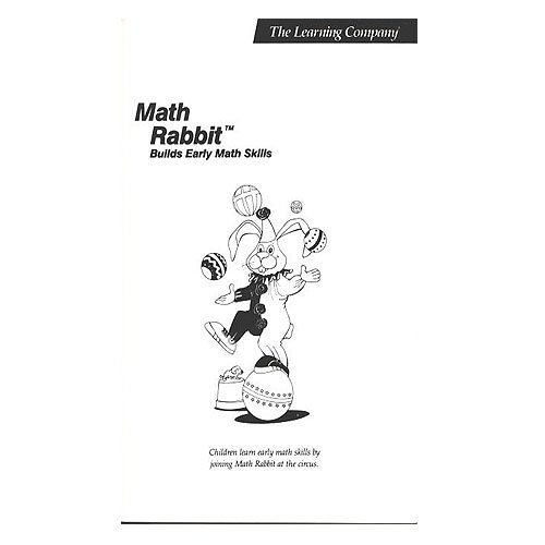 Original 1986 The Learning Company Math Rabbit Builds Early Math Skills Manual (Vintage)