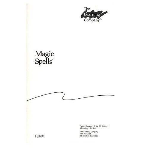 Original 1986 The Learning Company Magic Spells Manual (Vintage)