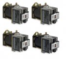 Contractors Bulk Lot Bundle (4) Industrial DC Control Relays 10 Amp Type X Square D No. 8501XDO40V53