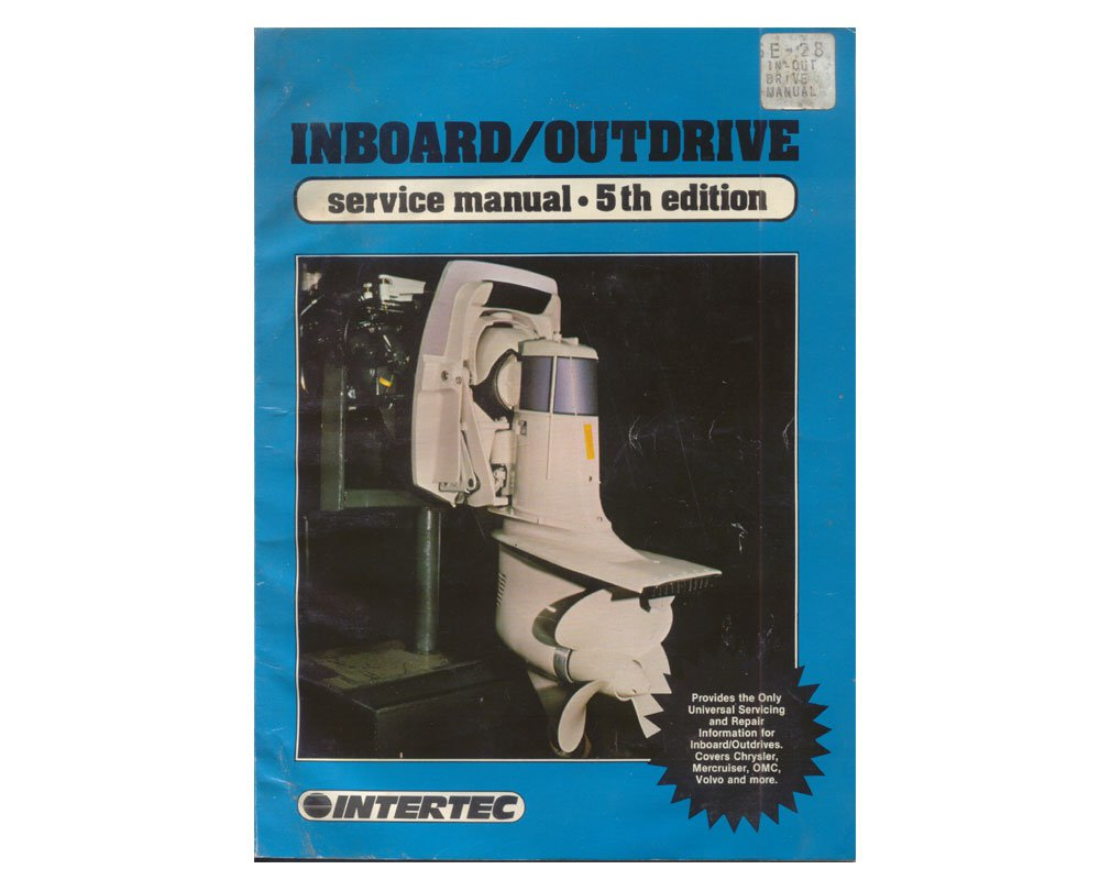 Original 1986 Intertec Inboard / Outdrive  Service Manual 5th Edition (Vintage Collectible)