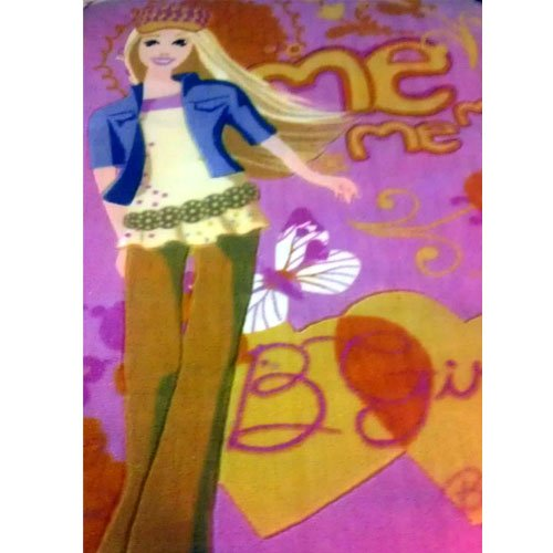 """Barbie Area Rug Plush Girl's Bedroom Large 2ft 11"""" x 4ft 11"""" (Me, Me, Me - B Girly) (New in Stock)"""