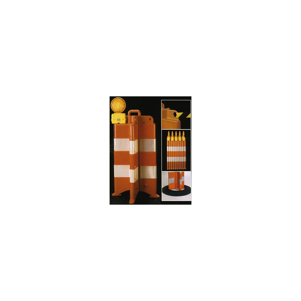 """Cordonator Traffic Channelizer With 6"""" Engineer Grade Reflective Sheeting No. 5AB25"""
