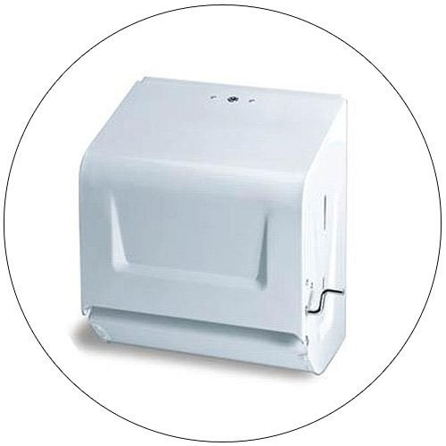 Crank Roll Paper Towel Dispenser, White Continental No. CON-675W (New In Stock).