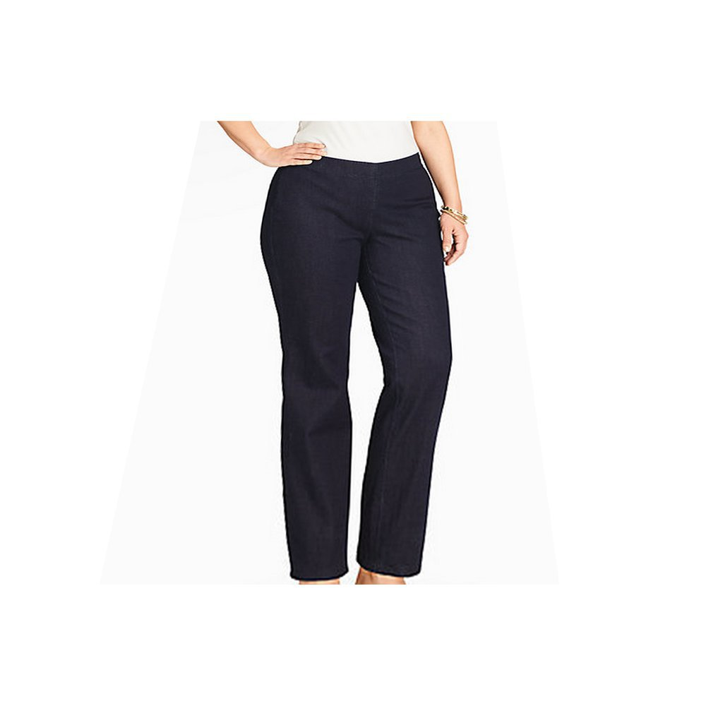 Peter Nygard NKD Slim F/X Stretch Jeans With One Side Zipper Plus Size: 18W