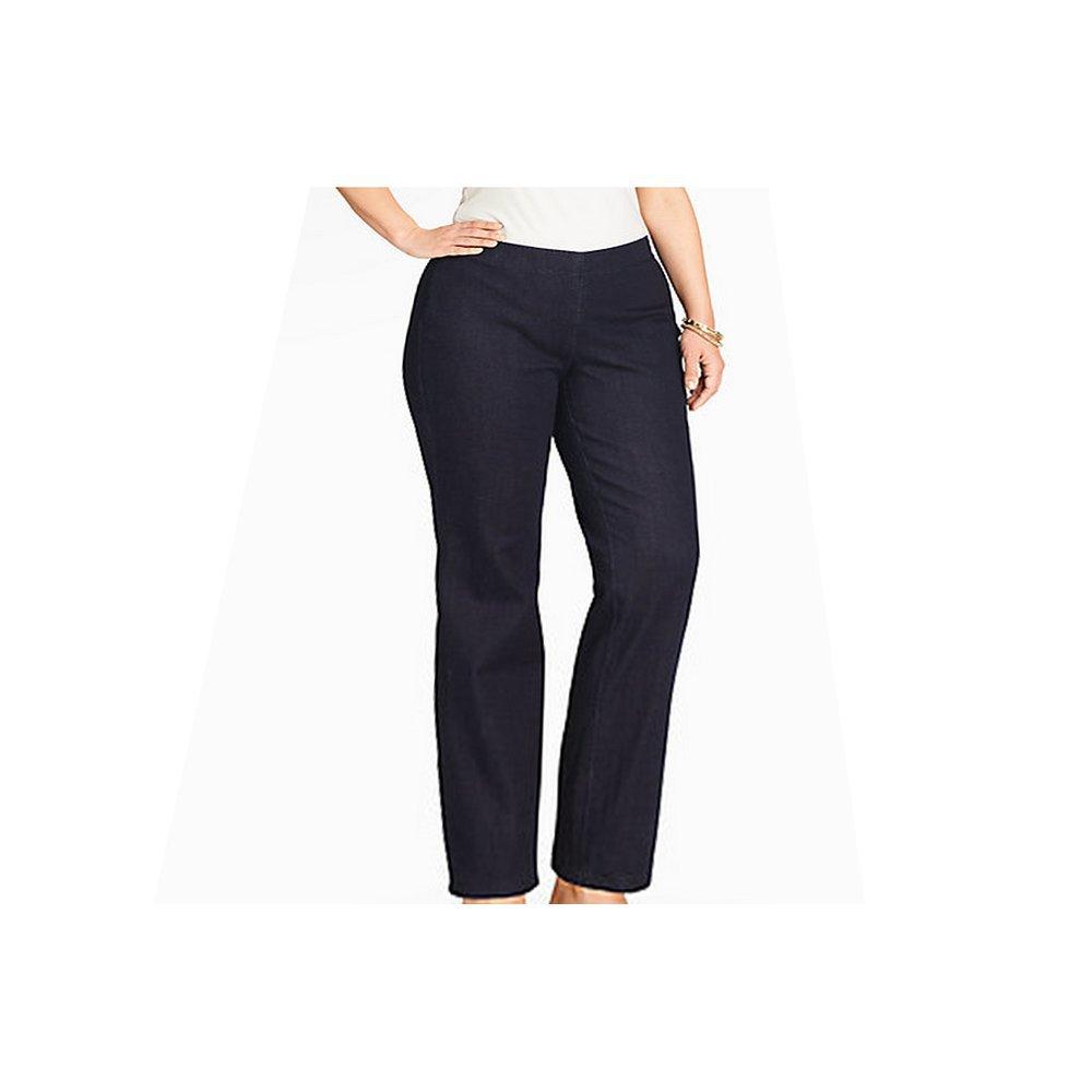 Peter Nygard NKD Slim F/X Stretch Jeans With One Side Zipper Plus Size: 20W